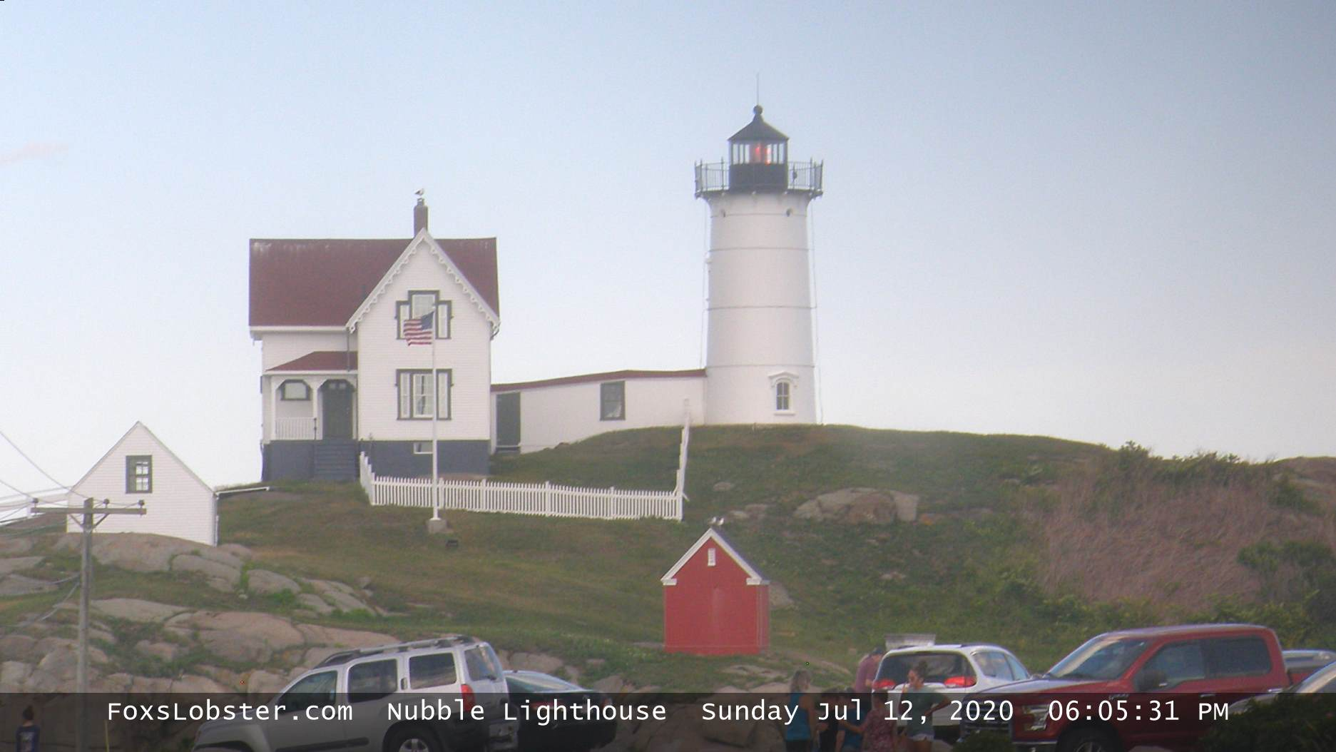 Live Webcam of The Nubble Lighthouse, York, Maine.